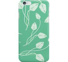 Vintage mint green white abstract floral pattern iPhone Case/Skin