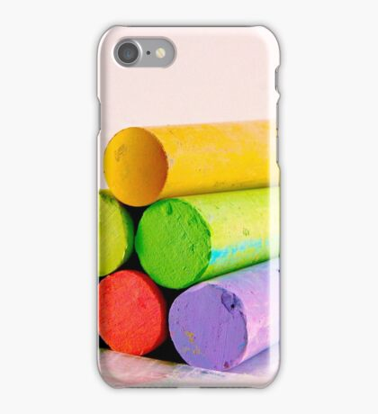 Pyramid of Colored Chalk iPhone Case/Skin