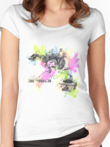 Misterwives Watercolor Women's Fitted Scoop T-Shirt