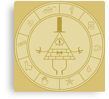 Bill Ciphers Circle of mystic Signs Canvas Print