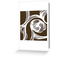 flower #1 in mocha Greeting Card