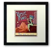 Visit Mars Retro Travel Advertisement  Framed Print