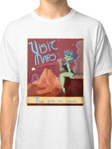 Visit Mars Retro Travel Advertisement  Classic T-Shirt