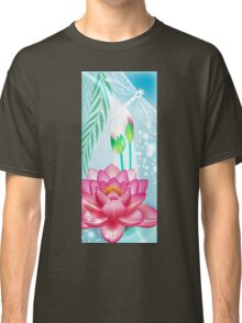 Lotus and Dragonfly Classic T-Shirt