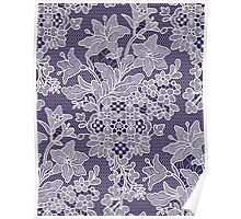 Lilies. Pattern. Lace. Poster