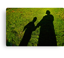 Mommy and child shadow fun  Canvas Print