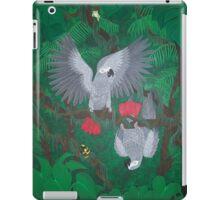Playful Greys - African Grey Parrots iPad Case/Skin