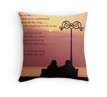 To Love, While the flame is strong Throw Pillow