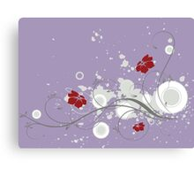 Lovely red flowers print Canvas Print