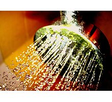Colour In The Shower Photographic Print
