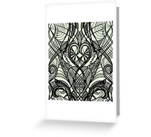 Tattoo Lace Seamless Pattern. Greeting Card