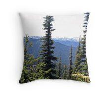 """""""Olympic Mountains"""" Throw Pillow"""