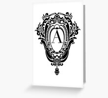 Cartouche with Didot A Greeting Card
