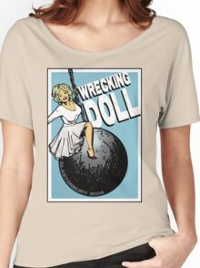 Wrecking Doll (blue) Women's Relaxed Fit T-Shirt