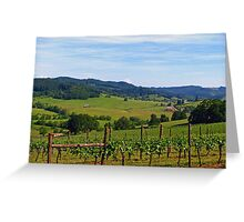 Oregon's Wine Country  Greeting Card