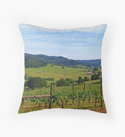 Oregon's Wine Country  Throw Pillow