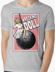 Wrecking Doll (pink) Mens V-Neck T-Shirt