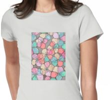It's Always Summer Somewhere - bright poppy floral Womens Fitted T-Shirt
