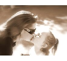 Sepia Kisses Photographic Print