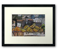 City Landscapes:  Banana seller Framed Print