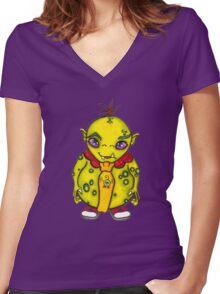 We Monster-2 Women's Fitted V-Neck T-Shirt