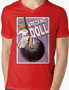 Wrecking Doll Mens V-Neck T-Shirt