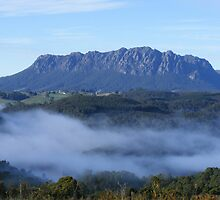 foggy Lake Barrington and Mt Roland, Tasmania by gaylene