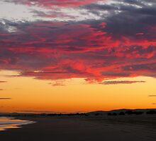 Colorful sunset, Stockton Beach, NSW by TheSpaniard