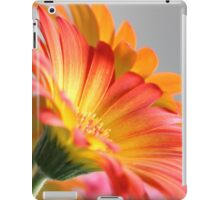 Flower on Gray iPad Case/Skin