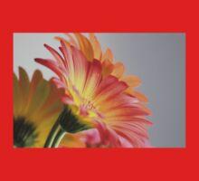 Flower on Gray One Piece - Short Sleeve