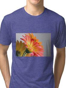Flower on Gray Tri-blend T-Shirt