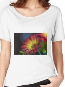Red Yellow Flower Women's Relaxed Fit T-Shirt