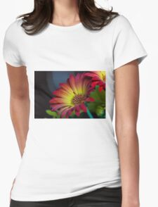 Red Yellow Flower Womens Fitted T-Shirt