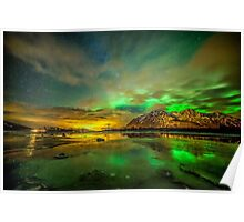 Aurora green Poster