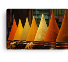 Moroccan Spice Rack Canvas Print