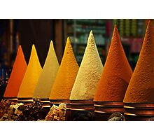 Moroccan Spice Rack Photographic Print