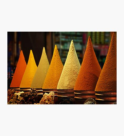 Moroccan Spice Rack Photographic Print