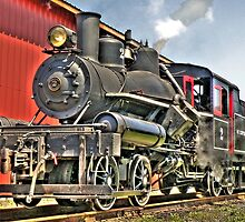 Little steam engine by pdsfotoart