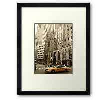 'Yellow Cab' Framed Print