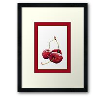 Three Cherries Framed Print