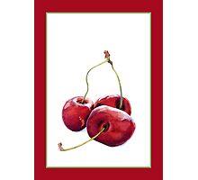 Three Cherries Photographic Print