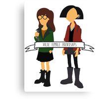Daria & Jane - Value Female Friendships Canvas Print