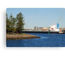 Coal ship Bulk Monaco - Port of Newcastle NSW Canvas Print