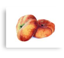 Flat Nectarines Canvas Print