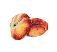 Flat Nectarines Photographic Print