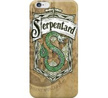 Slytherin parchment iPhone Case/Skin