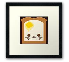 Kawaii Toast Framed Print