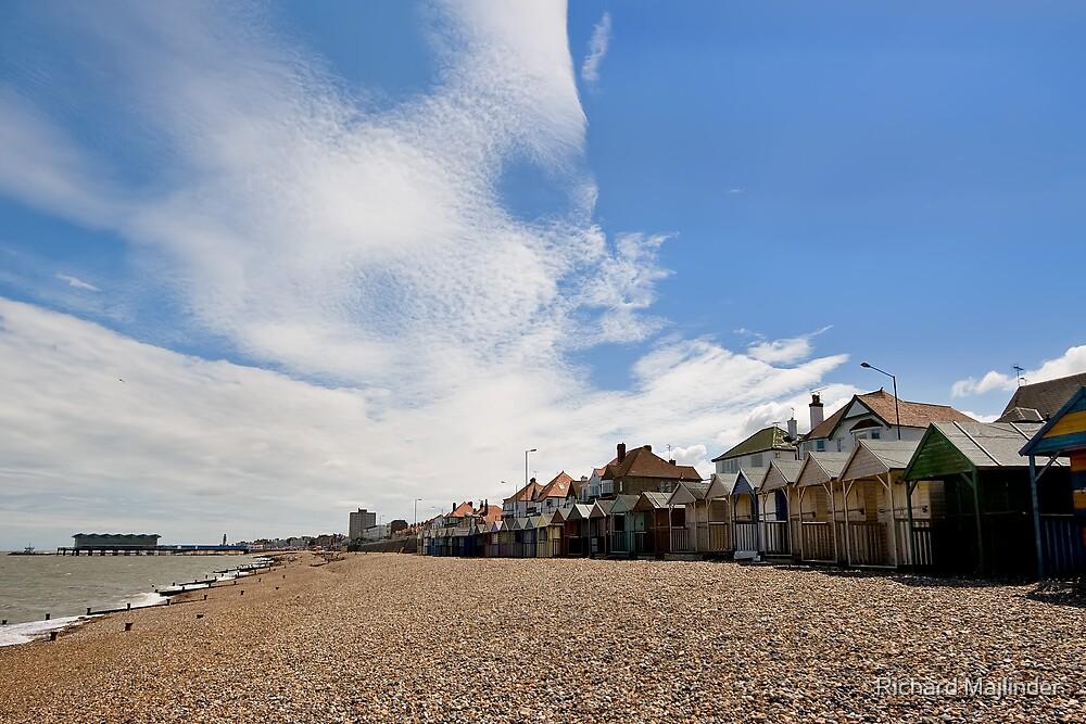 Seaside beach huts by Richard Majlinder
