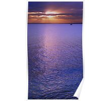 bayside sunset Poster