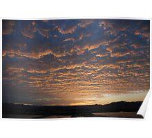 Warming sunset Poster